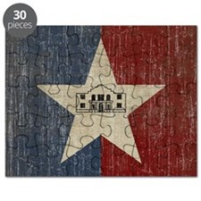 Vintage San Antonio Flag Puzzle