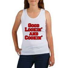 Good Lookin And Cookin funny apro Women's Tank Top