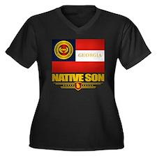 Georgia Nati Women's Plus Size Dark V-Neck T-Shirt