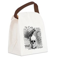 Cute Raven Canvas Lunch Bag