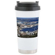 Overall view of the harbor on t Travel Mug