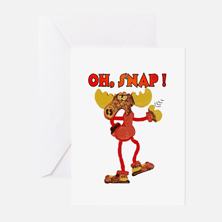 Oh , SNAP ! Snappy Moose  Greeting Cards (Package
