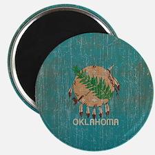 Vintage Oklahoma Flag Magnet