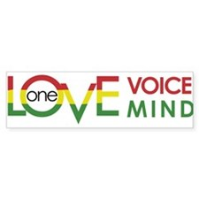 NEW-One-Love-voice-mind8 Bumper Bumper Sticker