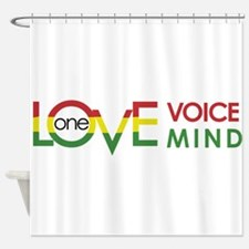 NEW-One-Love-voice-mind8 Shower Curtain
