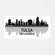 Awesome Tulsa Skyline Aluminum License Plate