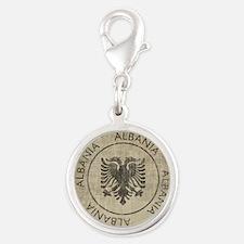 Vintage Albania Silver Round Charm