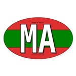 Morocco Colors Oval Sticker