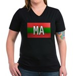 Morocco Colors Women's V-Neck Dark T-Shirt