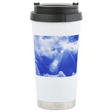 View of blue sky with clouds Travel Mug
