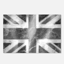 Union Jack Grey Postcards (Package of 8)