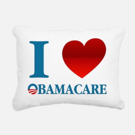 I Love Obamacare Rectangular Canvas Pillow