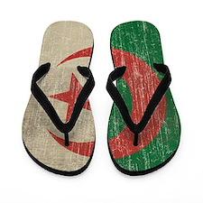 Vintage Algeria Flag Flip Flops