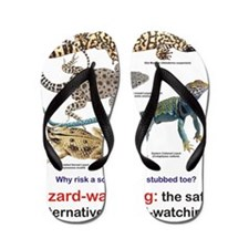 Lizard-watching Tee Flip Flops