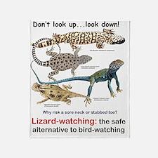 Lizard-watching Tee Throw Blanket