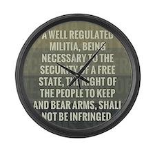 The Second Amendment Large Wall Clock