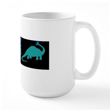 save the apatosaurus Large Mug