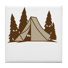 Camping Is In-Tents Tile Coaster