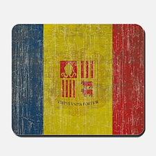 Vintage Andorra Flag Mousepad