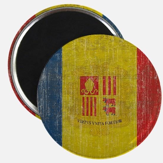 Vintage Andorra Flag Magnet