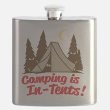 Camping Is In-Tents Flask