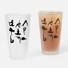 Yoga Poses Drinking Glass