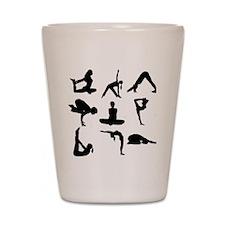 Yoga Poses Shot Glass