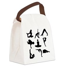 Yoga Poses Canvas Lunch Bag