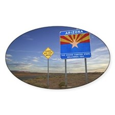 Signs for Arizona and school bus st Decal