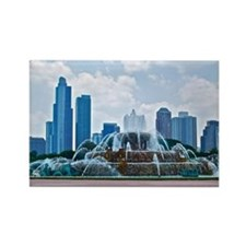 Fountain in Grant Park Chicago Rectangle Magnet