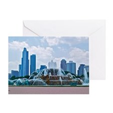 Fountain in Grant Park Chicago Greeting Card