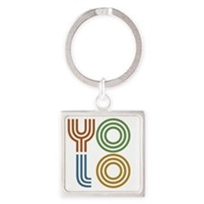 YOLO-You Only Live Once Square Keychain