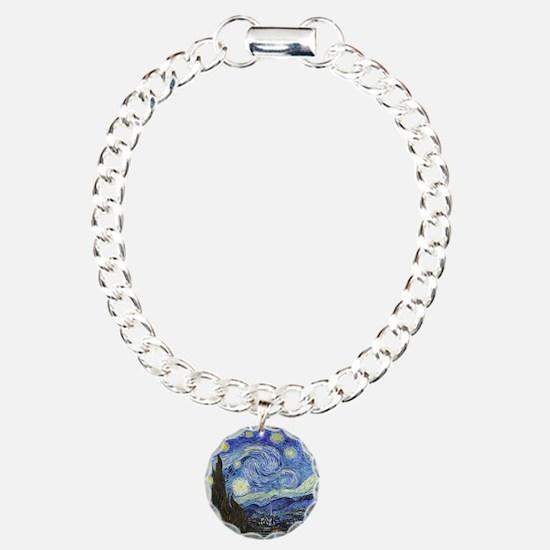 Starry Night - Van Gogh Charm Bracelet, One Charm