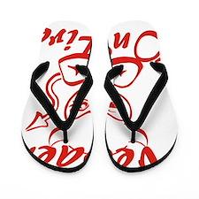 Nevaeh On Fire Flip Flops