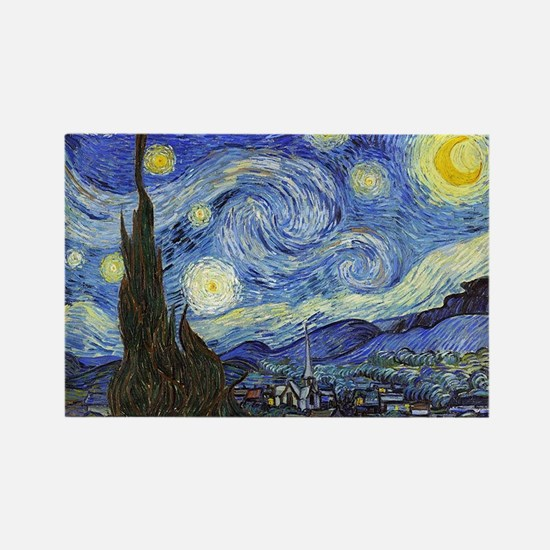 Starry Night - Van Gogh Rectangle Magnet (100 pack
