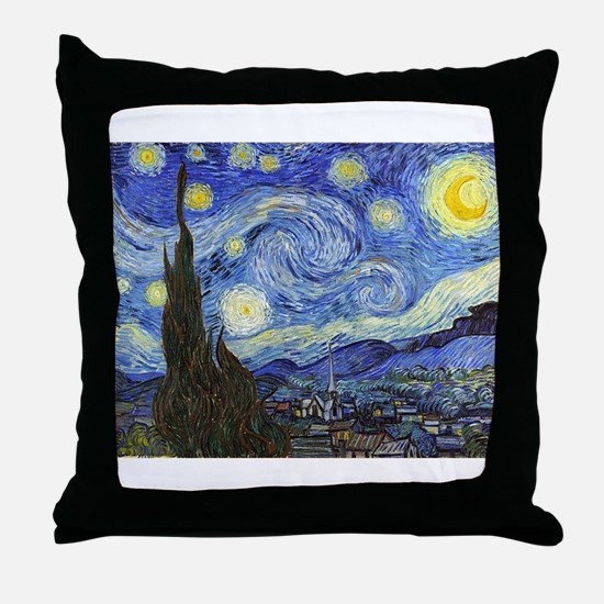 Starry Night - Van Gogh Throw Pillow