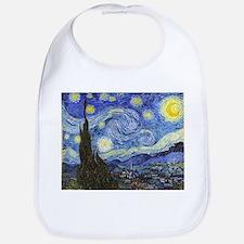 Starry Night - Van Gogh Cotton Baby Bib