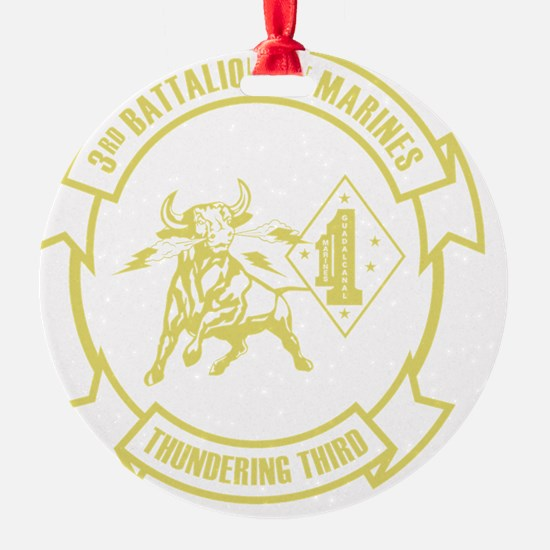 3rd Battalion 1st Marines Front Ornament