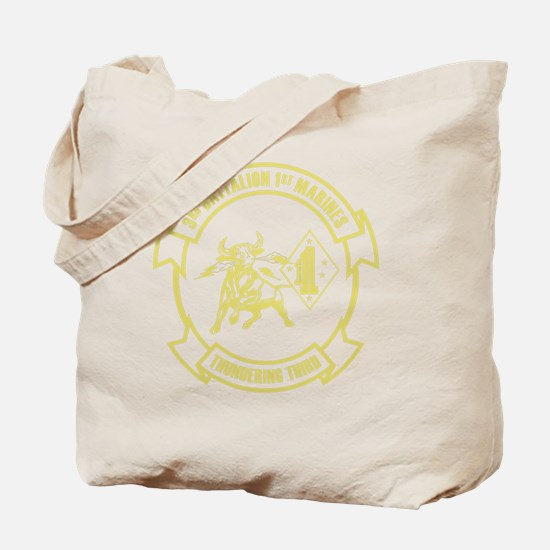 3rd Battalion 1st Marines Front Tote Bag