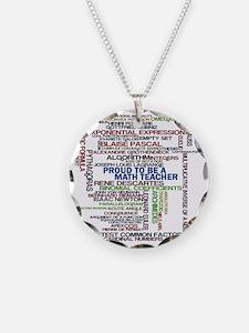 Proud Math Teacher Necklace