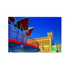 Paramount Theatre and McCloones Rectangle Magnet