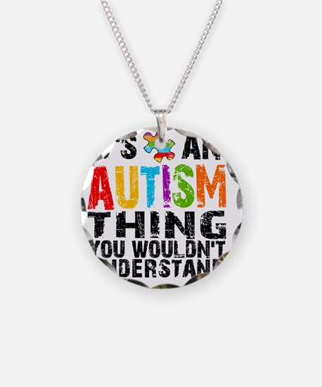 12Sq Autism Thing Necklace