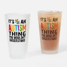12Sq Autism Thing Drinking Glass