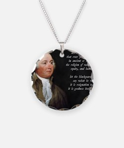 John Adams Christian Quote Necklace