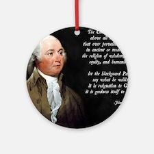 John Adams Christian Quote Round Ornament