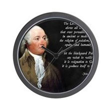 John Adams Christian Quote Wall Clock