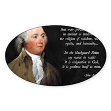 John Adams Christian Quote Decal