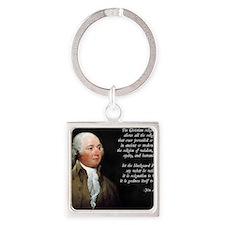 John Adams Christian Quote Square Keychain