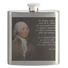 John Adams Christian Quote Flask