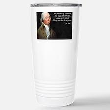 John Adams Constitution Quote Travel Mug